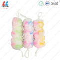 Mix color effective long belt sponge