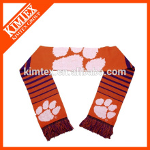 Custom knitted jacquard acrylic man city scarf