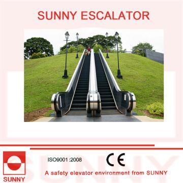 Outdoor escada rolante com corrimão de borracha colorido, Sn-Es-Od036