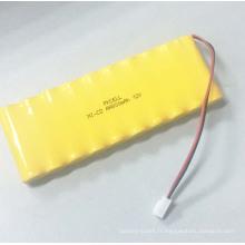 Batterie rechargeable de Ni-CD 9.6V AA 800mah de PKCELL avec le paquet d'industrie