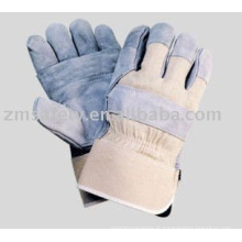 Gants de harnais canadiens en cuir fendu de vache ZM32-L