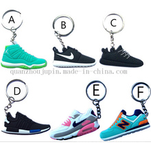 Chaînes de porte-clés promotionnelles de Keychaing de chaussures de sport promotionnelles de PVC de PVC