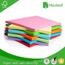 Papel especial de cores para trabalhos artesanais para uso escolar e de escritório