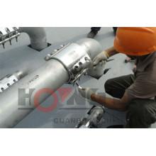 RCD flexível de aço inoxidável / pvc quick pipe repair braçadeira