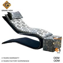 Chaise en tissu canapé-lit meubles chinois (GV-BS553)