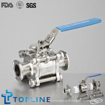 Válvula de bola sanitaria encapsulada sanitaria de acero inoxidable
