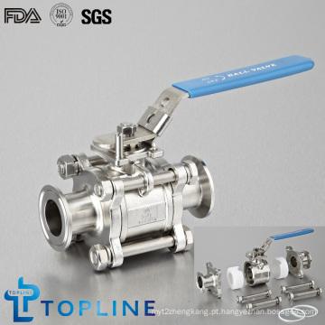 Válvula de esfera sanitária encapsulada sanitária de aço inoxidável