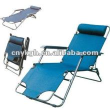 dobrável dormindo cadeiras de sol com travesseiro VLA-6001