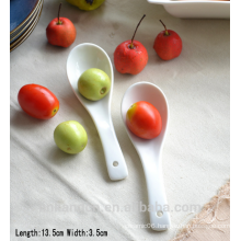 SP1533 Haonai Hot sell white ceramic spoon, ceramic soup spoon