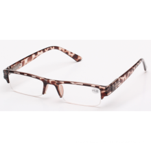 2015 new cheap half eye rimless frame reading glasses