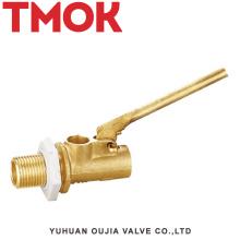 válvula de flotador de nivel de agua de cisterna de latón