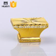 Customized elegant style shiny gold zamac perfume cap,beautiful glass perfume bottle caps