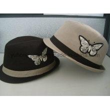 Sombrero de moda de Fedora del caballero, gorra de béisbol de los deportes