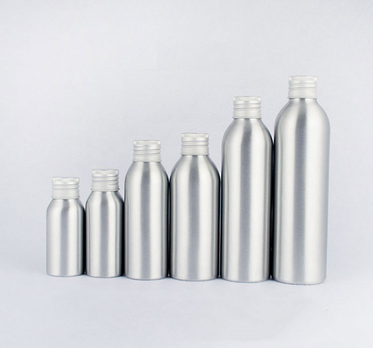 Aluminum bottle cosmetic bottle with aluminum cap screw (1)
