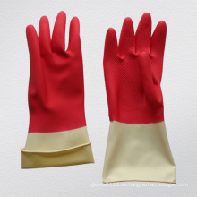 Double Color Haushalt Latex Handschuh - 5702