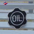 Nueva insignia de esmalte de color negro de lujo con logo