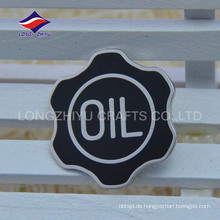 Neue fancy schwarze Farbe harte Emaille Badge mit Logo