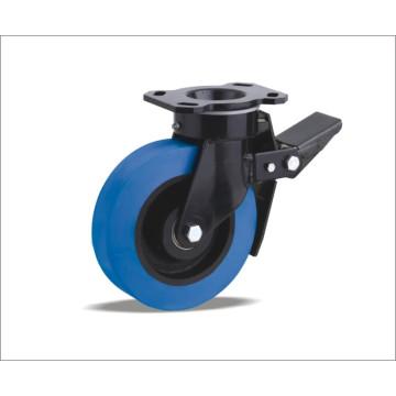 Roulette pivotante avec roulette en polyuréthane avec centre de fer