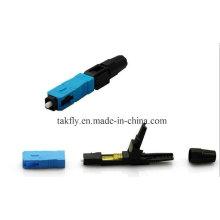 Le type de câble optique de fibre de 0.9mm / 2.0mm / 3.0mm a enfoncé le connecteur rapide de Sc / Upc