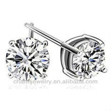 Fashion Round Solitaire Silver stud earrings For Women SE-003