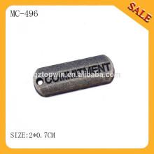 MC496 Vente en gros de bijoux en laiton anciens charmes faits sur mesure en métal