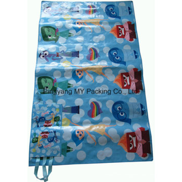 PP Woven BOPP Laminated Promotional Picnic Mat with Handle