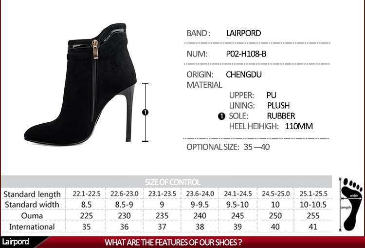 elegant style metal fasteners cheap leather boots