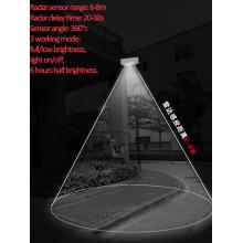 4W 솔 라 LED 마이크로 웨이브 센서 가든 라이트
