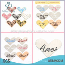 DIY stainless steel jewelry plates heart shape my kids charms
