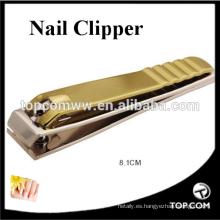 China fabricante personalizado de acero inoxidable cortauñas chapado en oro ManicureTools