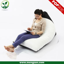 Living room adult bean bag reclining lounger, Twisted indoor bean bag recliner
