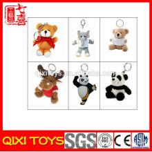 wholesale plush animal keychains, cheap make plush keychains