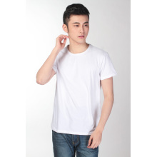 Short Sleeve Crew Neck T Shirt DIY Embroidery T Shirt (TM-001)