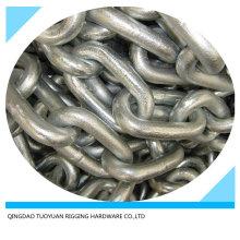 DIN766 Galvanzied de chaîne maillons soudés