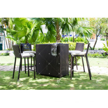 Hochwertige Poly PE Rattan Outdoor Möbel High Bar Set