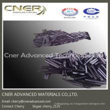Barras cortas de fibra de carbono de venta caliente, tubos de fibra de carbono pultrusionados de menor calibre