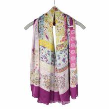 Fashion Printing chiffon lady scarf Square Scarf