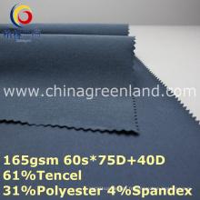 Tencel Polyester Spandex Tissu pour les pantalons de femme (GLLML363)