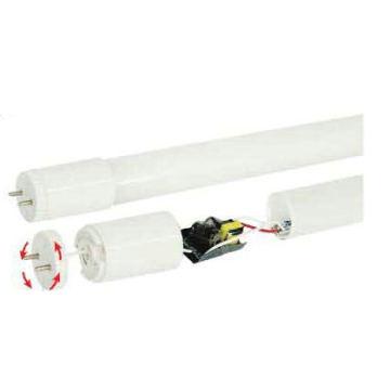 Tubo de vidro LED T8 com base rotativa