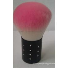 Escova cosmetic da forma cor-de-rosa, etiqueta confidencial venda quente Kabuki escova