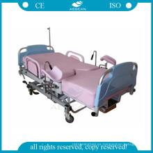 AG-C101A02B silla de examen de ginecología de altura regulable con poste iv