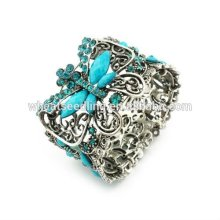 Vintage TOP quality Butterfly Resin Bracelets Bangles Rhinestone Bangles BA19