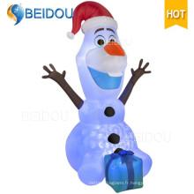 Caractère de bande dessinée Ours gigantesque Santa Inflatable Christmas Olaf
