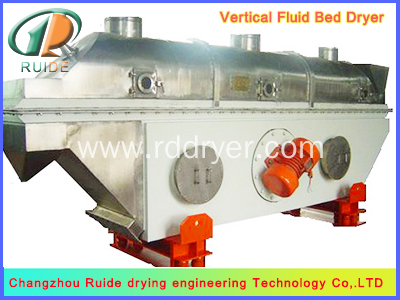 Puffed food vibrating fluidized bed