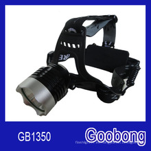 Super brillante CREE T6 LED recargable de la lámpara principal / LED faro / LED