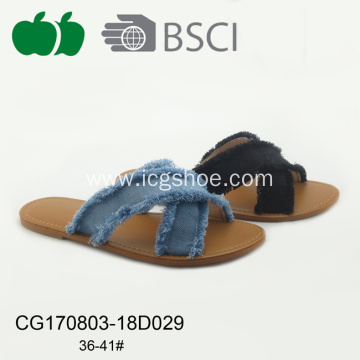 New Flat Summer Womens Cheap Pu Slipper