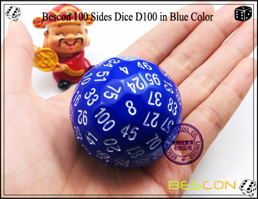 Bescon 100 Sides Dice D100 in Blue Color-2
