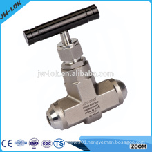 One way water pressure float needle valve