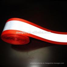 Cinta reflectante roja 50mm / 5mm, correas reflectantes