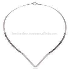 925 Silber handgefertigte einfach Designer schöne Damen Halskette
